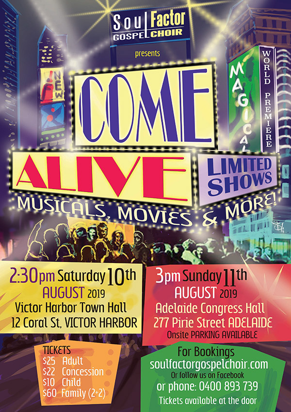 Come Alive - Moveis Musicals and More